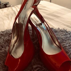 Red patent leather heel size 10
